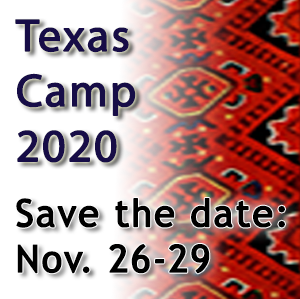 Texas Camp 2020 - Save the Date: November 26 - 29